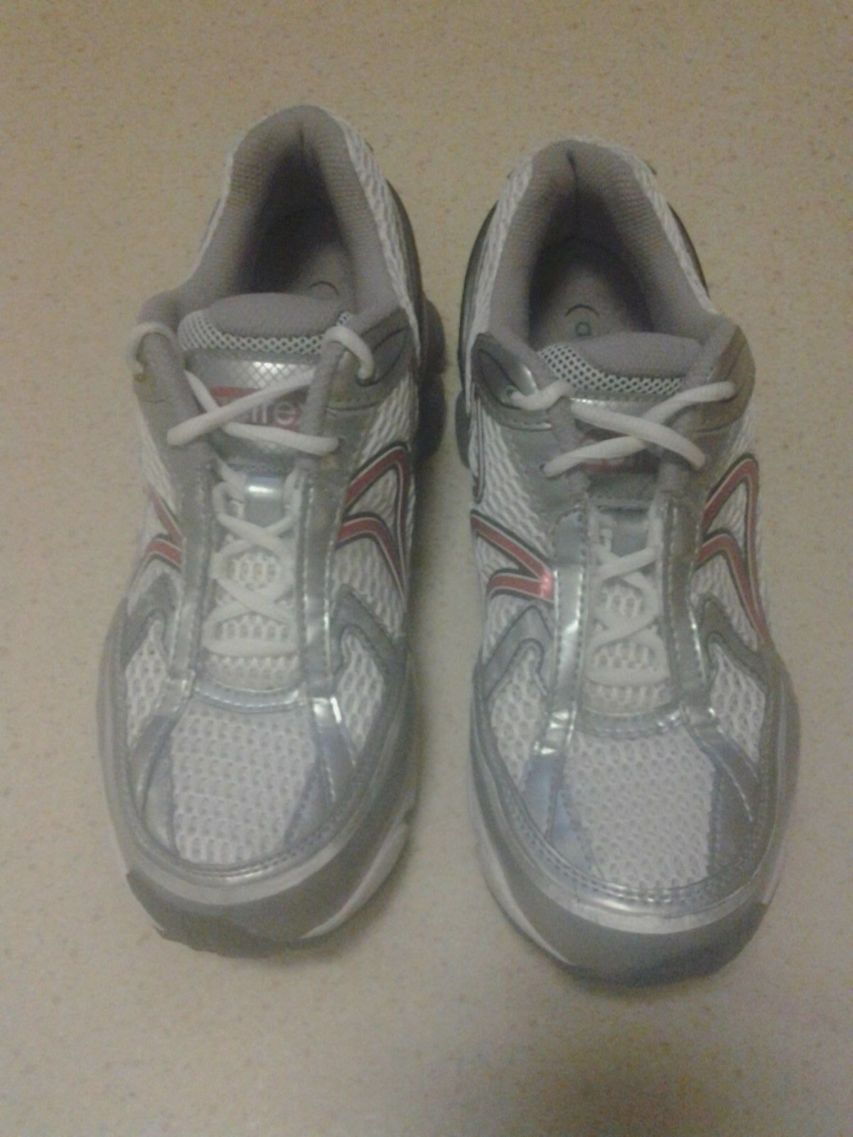 AETREX Men's Rx Runner Q438M - White Red  - US 10 WIDE Running shoes