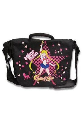 *NEW* Sailor Moon: Sailormoon Pink Star Black Messenger Bag by GE Animation