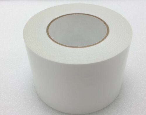 """2 Rolls 3.75/""""x55 yd Double sided tissue tape wrinkle free high tack DT63Q"""
