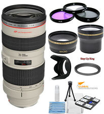 Canon EF 70-200mm f/2.8L USM Telephoto Zoom Lens!! Pro Bundle Kit!! Brand New!!