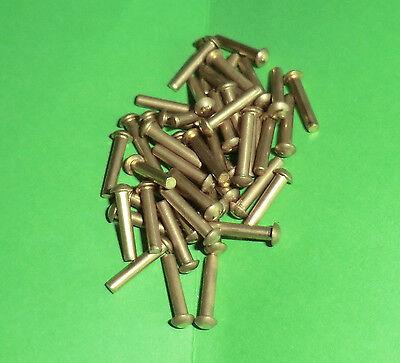50 Kupfernieten  DIN 660 Halbrundkopf 3x4