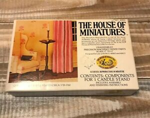Vintage-1977-House-of-Miniatures-Doll-House-Queen-Anne-Candle-Stand-Kit-40013