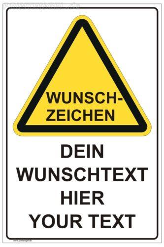 Shield idividuell Warning Warning Signs bid-Prohibition Sign of premises
