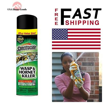 Details about   Wasp Hornet Aerosol Spray Killer 20 oz.Spectracide Pest Control Insect Sprayer