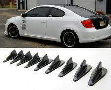 Black Vortex Generator Diffuser Shark Fin Set For Wing Spoiler  Roof  Windshield