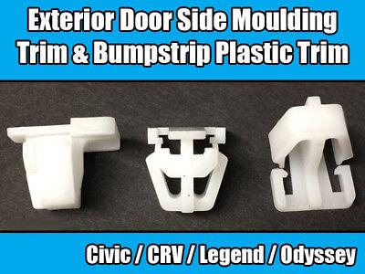side trim /& bumpstrip 20x Honda Plastic trim Clips For exterior door mouldings