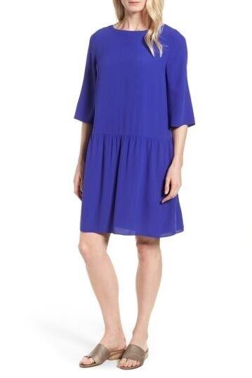 New Eileen Fisher Drop Waist Silk Dress Size XS MSRP  438