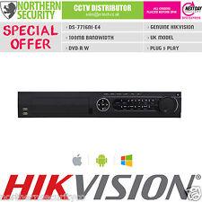 Hikvision DS-7716NI-E4 Smart NVR 16CH 6MP 100MB P2P alarma de CD-ROM Onvif HDMI UK