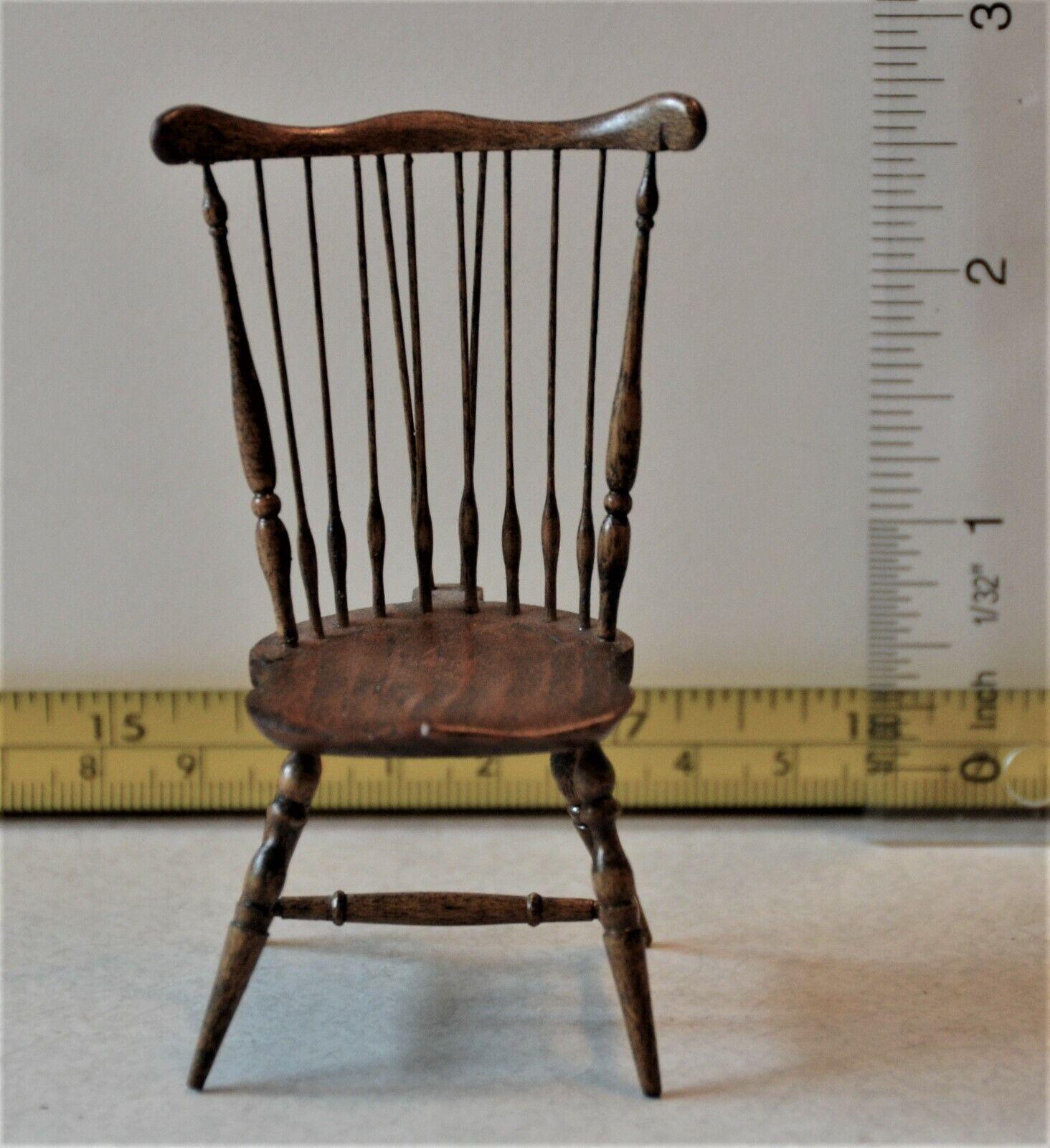 IGMA Artist Ted Norton Windsor Chair Dollhouse Miniature Vintage 1 12 Rare  2