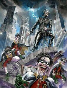 12x16 Water Color Batman Who Laughs Sketch - Original Art ...