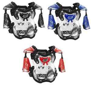 Fox-Racing-R3-Roost-Guard-Chest-Protector-Small-Motocross-Off-Road-Kids-Youth