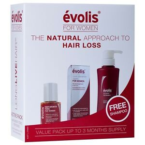 Evolis-Starter-Pack-for-Women-3-pack-Hair-Growth-Tonic-amp-Shampoo-3-Months