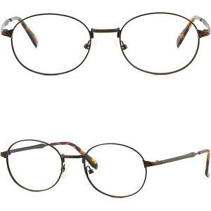 Vollrand Herren Damen Brillengestell Gestell Metall Oval Brille Fassung Silber nNGlYGbUzy