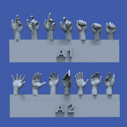 Set #1 in 1:35 ROYAL MODEL 839 Assorted Hands for Figures
