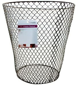 Wire Waste Paper Basket waste basket bin wastebasket mesh wire paper round office home