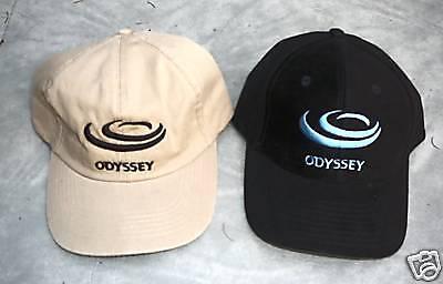 2 Ball Caps black tan hat ODYSSEY logo  Honda