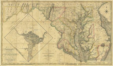 HUGE 1794 MD MAP Burtonsville California Calverton Cambridge Genealogy SURNAMES