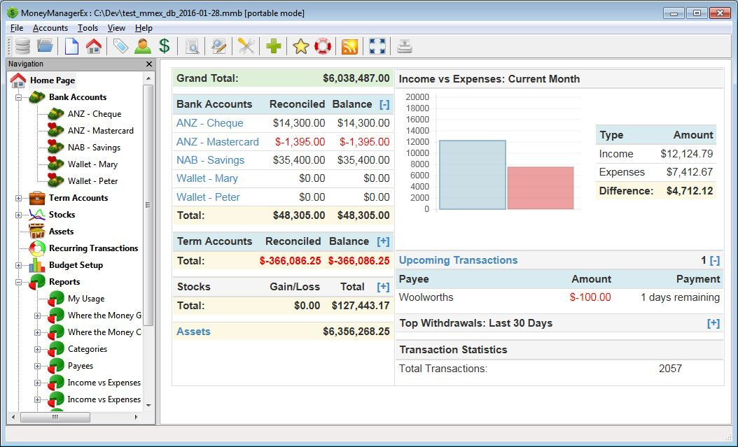 Money Manager Ex  Software Personal Finance and Budgeting Money Management