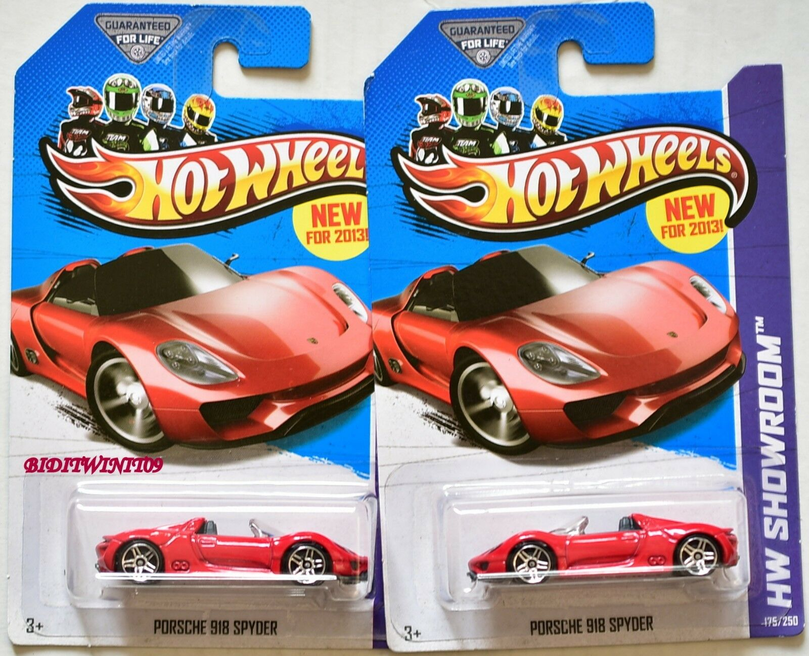 HOT WHEELS 2013 HW SHOWROOM PORSCHE 918 SPYDER VARIATION W+