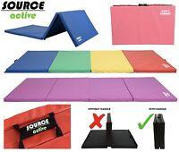 10ft Folding Gymnastics Tumble Mat Yoga Exercise Fitness Pilates Gym Martial Art