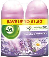 Air Wick Freshmatic Air Refill, Lavender - Chamomile, 6.17 oz per Can, 2 ea