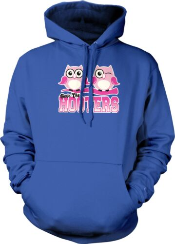 Save The Hooters Owls Pun Funny Breast Cancer Awareness Month Hoodie Pullover