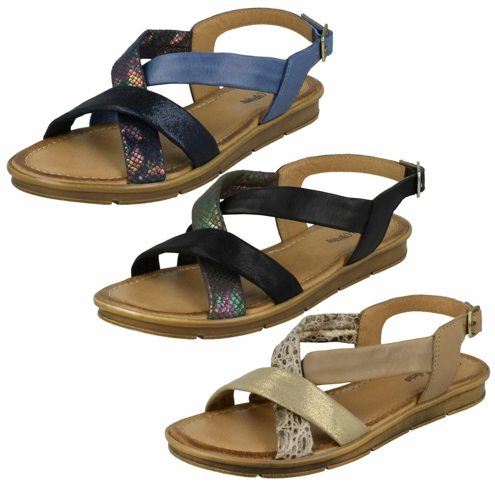 Ladies Leather F00035 Slingback Sandals By Leather Ladies Collection Sale Now  .99 5f8347