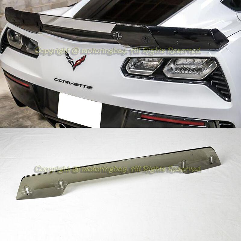 For 14 19 Corvette C7 Z06 Z07 Stage 3 Rear Spoiler Upgrade Wickerbill Light Tint Ebay