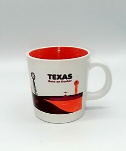DUNKIN' DONUTS 2013 TEXAS RUNS ON DUNKIN' COFFEE CUP MUG [C2]