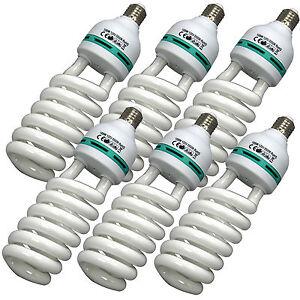 BlueDot 105W Photo Video Fluorescent Spiral Daylight Light Bulbs 6-Pack 5500K