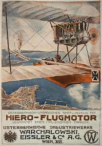 AD94-Vintage-WWI-1916-German-Austrian-Aviation-Aircraft-Motors-Poster-A2-A3