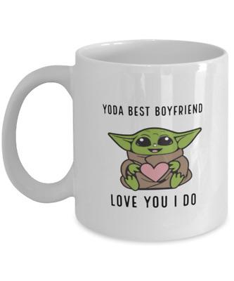 Love You Beer Stein Boyfriend Birthday Beer Gifts Yoda Best Boyfriend Beer Mug Funny Boyfriend Beer Glass