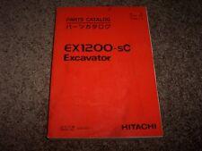 Hitachi Excavator EX1200-5C EX 1200 Factory Parts Catalog Manual 002001-