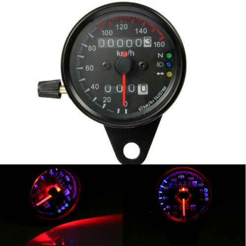 Universal Motorcycle Dual LED Backlight Signal Odometer Mileage Speedometer