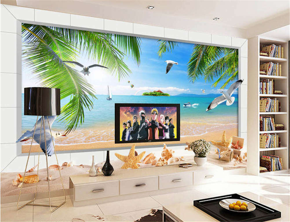 Vague Lively Sea 3D Full Wall Mural Photo Wallpaper Printing Home Kids Decor