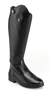 Brogini-Modena-Long-Riding-Boots-Synthetic-Leather-Zip-Up-Black