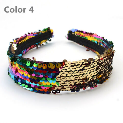 Women Glitter Reversible Sequins Headband Party Costume Cosplay Hair Accessories