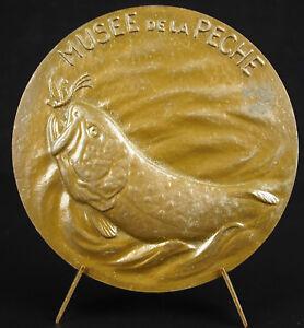 Medal-1978-Castle-de-La-Bussiere-Museum-Fishing-Flies-Trout-Flies