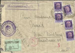 Italie Social République-sc#3 (x5) - Montegrotto Terme 2/3/44 - Enregistré (label) --x5)-montegrotto Terme 2/3/44-registered(label)-fr-fr Afficher Le Titre D'origine
