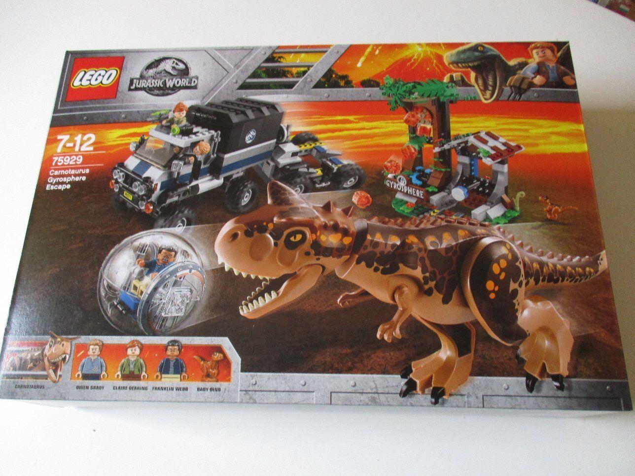 LEGO 75929 Jurassic World Carnotaurus Gyrosphere Escape NEU OVP ungeöffnet