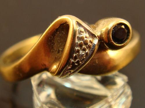 Edler goldring 333er gold Ring mit Brillant und Saphir