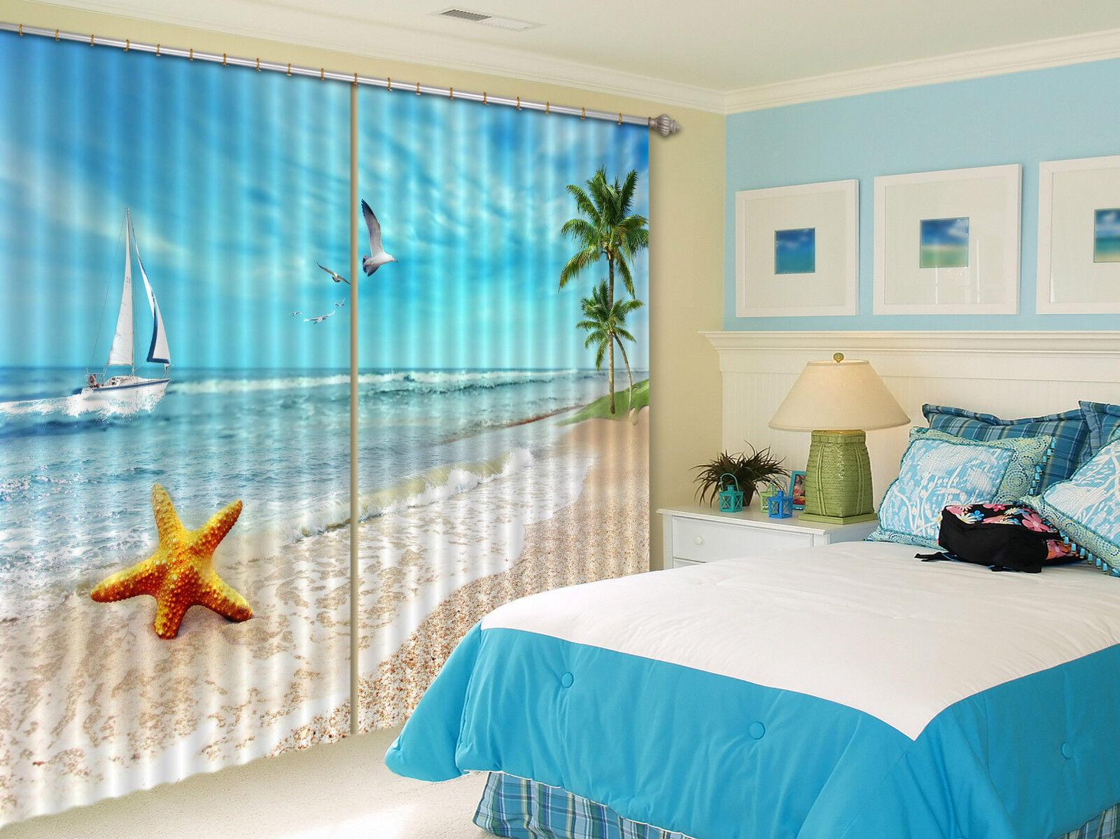 3d spiaggia sabbia 424 blocco foto sipario pressione sipario tende tessuto finestra de