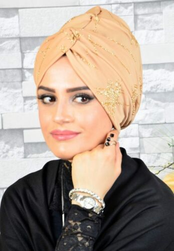 TTB1001 Fertig Kopftuch Hazir Burgu BoneTürban Esarp Sal Tesettür Hijab Khimar