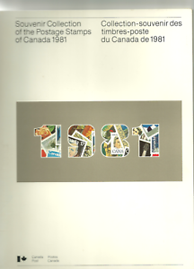 CANADA-1981-Annual-Yearly-Stamp-Collection-Open-without-the-stamps