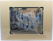 "NEW Art of Disney Parks Graveyard Band 14"" x 18"" Matted Print by Costa Alavezos"