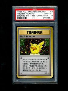 POKEMON-PSA-8-NM-MINT-1997-NO-3-TRAINER-RAREST-amp-FIRST-PIKACHU-TROPHY-CARD