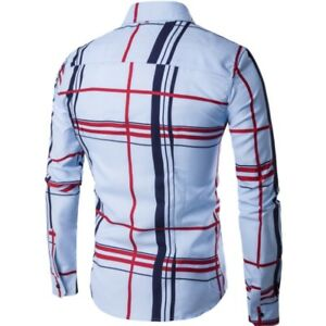 Men-Stylish-Casual-Grid-Shirts-Slim-Fit-Long-Sleeve-Stylish-Dress-Shirts-Tops-a