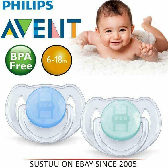 2 Pack New Philips Avent BPA Free Orthodontic Extra Flow for 0-6 Months