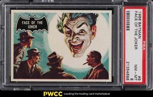 1966 Topps Batman Black Bat Face Of The Joker #9 PSA 8 NM-MT