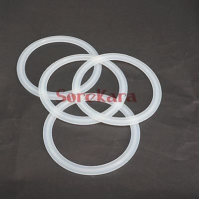 """LOT 5 Fit 76mm Pipe OD 3/"""" Tri Clamp Sanitary Silicon Sealing Gasket Homebrew"""